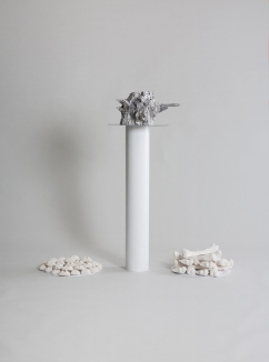 Primordial Chaos, Death and Everything in Between, 2019, aluminium, plaster