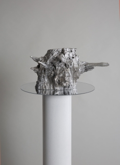 Primordial Chaos, Death and Everything in Between (detail), 2019, aluminium, plaster